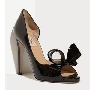 Valentino Couture Bow Platform Pumps 40.5 Heels